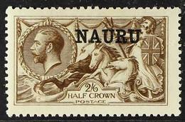 "1916 - 23 2s 6d Sepia-brown, De La Rue Printed ""Seahorse"", SG 19, Very Fine Mint, Only Very Lightly Hinged. A Beautiful, - Nauru"