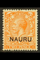 1923 2d Orange (Die II), SG 5, Never Hinged Mint. For More Images, Please Visit Http://www.sandafayre.com/itemdetails.as - Nauru