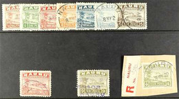 1924 Freighter Values Fine Used, Between SG 26A - 35A With ½d - 5d With Nauru Cds Cancels, 1½d With Violet Cancel, 9d Wi - Nauru