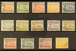 1924-34 Freighter Greyish Paper Set Complete, SG 26A/39A, Very Fine Used (2d Orange Unused). A Very Scarce Set (14 Stamp - Nauru