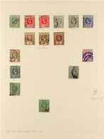 1914-1935 USED COLLECTION On Album Pages, With 191429 Set To 1s With Shades And 10s, 1921-32 Set To 1s With Both Dies As - Nigeria (...-1960)