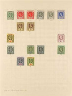 1914-1936 FINE MINT COLLECTION On Album Leaves, With 1914-29 Set To 5s With Shade Varieties In 1s X 4 Different, 1921-32 - Nigeria (...-1960)