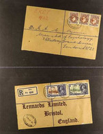 1915-1973 COVERS COLLECTION An Impressive Collection Presented In 4 Volumes With Better Airmail Frankings, Manuscript La - Nigeria (...-1960)