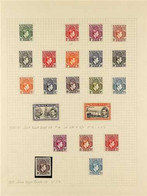 1937-1949 COMPREHENSIVE VERY FINE MINT COLLECTION On Leaves, Virtually Complete For The Period Including 1938-51 Definit - Nigeria (...-1960)