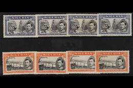 1938-51 2s.6d And 5s, The Four Different Perforations For Each, SG 58/59, Fine Mint. (8 Stamps) For More Images, Please  - Nigeria (...-1960)