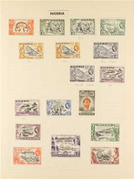 1953-1976 FINE MINT COLLECTION On Leaves And Stock Pages, And Including 1953-58 Definitive Set With Varieties, 1961 Defi - Nigeria (...-1960)
