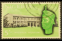 1961 5s Black And Emerald With WATERMARK INVERTED, SG99w, Very Fine Used With One Very Slightly Short Perf At Base. Ver - Nigeria (...-1960)