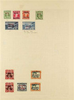 1902-1950 COLLECTION On Leaves, Mint Except Where Stated, With 1902 2½d Blue, No Stop After 'PENI' Variety, 1911 KEVII S - Niue