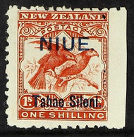 """1903 1s Brown-red Bird, """"Tahae"""" Joined, SG 15, Fine Mint With Right Sheet Margin. For More Images, Please Visit Http://w - Niue"""