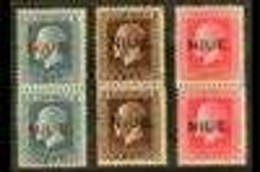 1917-21 2½d, 3d, And 6d Mixed Perf Vertical Pairs, SG 28b/30b, Never Hinged Mint. (3 Pairs) For More Images, Please Visi - Niue