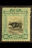 1909 18c Blue Green And Black Banteng, SG 175, Fine And Fresh Mint. Elusive Stamp. For More Images, Please Visit Http:// - North Borneo (...-1963)