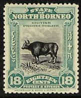1909-23 18c Blue-green Banteng, SG 175, Fine Mint, Fresh. For More Images, Please Visit Http://www.sandafayre.com/itemde - North Borneo (...-1963)