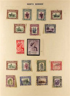 1939-1963 ALL DIFFERENT MINT AND USED COLLECTION On Album Pages. Includes 1939 Definitive Range To 50c Used, 1941 War Ta - North Borneo (...-1963)