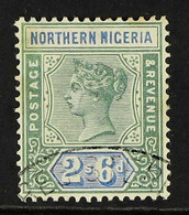 1900 2s6d Green & Ultramarine, SG 8, Fine Used With Oval Registered Cancel, Nice Colour, Scarce. For More Images, Please - Nigeria (...-1960)