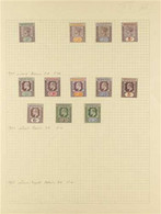 1900- 1912 FINE MINT COLLECTION On Album Pages And Including 1900½d, 2d, 2½dand 5d, 1902 Set To 2s6d, 1910-11 Set To 1 - Nigeria (...-1960)