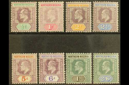 1905-07 Complete Definitive Set, SG 20a/27a, Fine Mint. (8 Stamps) For More Images, Please Visit Http://www.sandafayre.c - Nigeria (...-1960)
