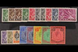 1938-44 Complete Set, SG 10/143, Very Fine Mint. (18 Stamps) For More Images, Please Visit Http://www.sandafayre.com/ite - Nyasaland (1907-1953)
