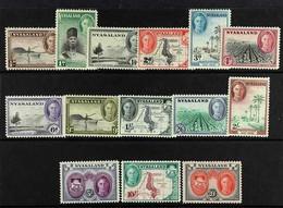1945 Definitive Set Complete, SG 144/157, Never Hinged Mint (14 Stamps). For More Images, Please Visit Http://www.sandaf - Nyasaland (1907-1953)
