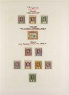 1902-36 MINT COLLECTION On Pages, Includes 1902-03 ½d, 3d & 1s, 1902 2d Anniv., 1904-10 Values To 1s, 1912-21 Set Plus S - St.Lucia (...-1978)