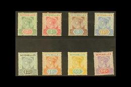 1890 Complete Die I Set, SG 1/8, Fine Mint. (8 Stamps) For More Images, Please Visit Http://www.sandafayre.com/itemdetai - Seychelles (...-1976)