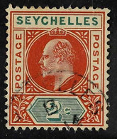 1903 KEVII 2c Chesnut And Green, Dented Frame Variety, SG 46a, Fine Used. For More Images, Please Visit Http://www.sanda - Seychelles (...-1976)