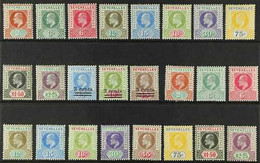 """1903-1906 KEVII MINT COLLECTION Presented On A Stock Card, Virtually Complete For """"Basic"""" Issues That Includes The 19036 - Seychelles (...-1976)"""