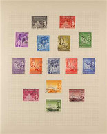 1937-52 KGVI COMPLETE USED COLLECTION Neatly Presented On Inter-leaved Album Pages, A Complete Run From Coronation To 19 - Seychelles (...-1976)