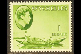 1938 1r Yellow Green, SG 146, Superb Never Hinged Mint, The Key Value. For More Images, Please Visit Http://www.sandafay - Seychelles (...-1976)