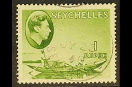 1938-49 1r Yellow-green, SG 146, Very Fine Used. For More Images, Please Visit Http://www.sandafayre.com/itemdetails.asp - Seychelles (...-1976)