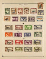 1884-1938 COLLECTION On A Two-sided Page, Virtually All Different Mint & Used Stamps, Includes 1932 Set To 1s Used, 1933 - Sierra Leone (...-1960)