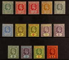 1907-12 Definitive Set Complete, SG 99/111, Fine Mint, A Few Small Faults (14 Stamps). For More Images, Please Visit Htt - Sierra Leone (...-1960)
