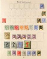 1912-32 KGV MINT ONLY COLLECTION Presented On Imperial Album Pages With Strong Ranges, Shades & Paper Variants That Incl - Sierra Leone (...-1960)