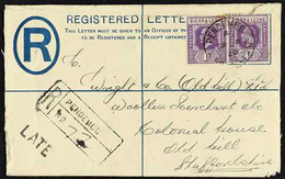 1928 (Sept) 3d Registered Envelope (opened Out For Display) Uprated With 1921-27 1d Pair, Pendembu To England, And Showi - Sierra Leone (...-1960)