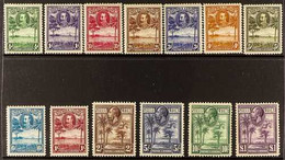 """1932 King George V Pictorial Set """"Rice Field, Palms & Cola Tree"""", SG 155/167, Very Fine Mint (13 Stamps) For More Images - Sierra Leone (...-1960)"""