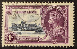 1935 1s Slate & Purple Jubilee With SHORT EXTRA FLAGSTAFF Variety, SG 184b, Used With Cds Cancel, Fresh & Scarce. For Mo - Sierra Leone (...-1960)