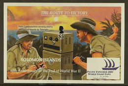 2005 ARCHIVE IMPERFORATE 60th Anniversary Of The End Of WWII Miniature Sheet As SG MS1124,BDT Archive Imperforate, Neve - British Solomon Islands (...-1978)