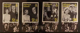 2007 ARCHIVE IMPERFORATE QEII Diamond Wedding Anniversary Complete Set As SG 1223/1226,BDT Archive Imperforates, Never  - British Solomon Islands (...-1978)