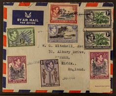 BARAKOMA AIRFIELD COVER 1936 (30 Jan) Airmail Cover To England (containing A Somewhat Terse Typed Letter From The Rev. T - British Solomon Islands (...-1978)