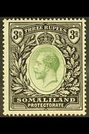 1912-19 3r Green & Black, SG 71, Fine Mint For More Images, Please Visit Http://www.sandafayre.com/itemdetails.aspx?s=62 - Somaliland (Protectorate ...-1959)