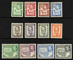 1938 Definitive Set Complete, SG 93/104, Never Hinged Mint, Brownish Gum (12 Stamps). For More Images, Please Visit Htt - Somaliland (Protectorate ...-1959)