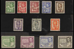 1938 Pictorials (sheep/Kudu/Map) Complete Set, SG 93/104, Very Fine Corner Cancelled Cds Used. (12 Stamps) For More Imag - Somaliland (Protectorate ...-1959)