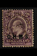 """OFFICIAL 1904 2a Dull And Bright Purple Wmk CA With NO STOP AFTER 'M' Variety, SG O12a, Fine Cds Used With """"Berbera"""" Cds - Somaliland (Protectorate ...-1959)"""