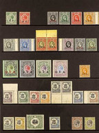 """1916-31 MINT COLLECTION Presented On A Stock Page That Includes 1917-21 """"G.E.A""""opt'd Range To 1r, 2r, 3r & 5r Plus A 19 - Tanganyika (...-1932)"""