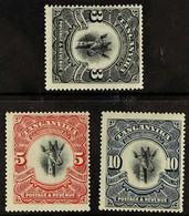 1922-24 GIRAFFE HIGH VALUES An Attractive Trio On A Stock Card That Includes 3s Black (SG 85), 5s Scarlet Wmk Upright (S - Tanganyika (...-1932)