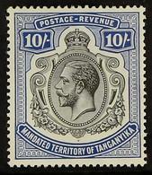 1927-31 10s Deep Blue, Script Wmk, SG 106, Fine Mint For More Images, Please Visit Http://www.sandafayre.com/itemdetails - Tanganyika (...-1932)