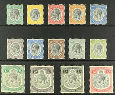 1927-31 King George V 5c To 5s Definitive Set Complete Including 30c Both Colours, SG 93/105, Fine Mint. (14 Stamps) For - Tanganyika (...-1932)