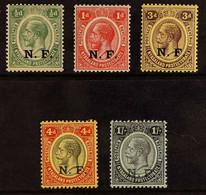 NYASALAND - RHODESIAN FORCE 1916 'N.F.' Overprint On Nyasaland Set, SG N1/N5, Fine Mint (5 Stamps). For More Images, Ple - Tanganyika (...-1932)