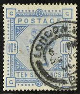 1883-84 10s Ultramarine, White Paper, SG 183, Good Used. For More Images, Please Visit Http://www.sandafayre.com/itemdet - Unclassified