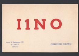 Pesaro (Italie)  Carte QSL De RADIO AMATEUR 1955 (PPP32451) - Zonder Classificatie