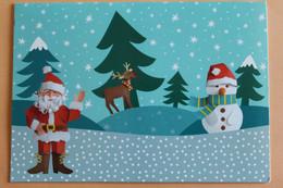 Carte Pliante - Père Noel - Santa Claus